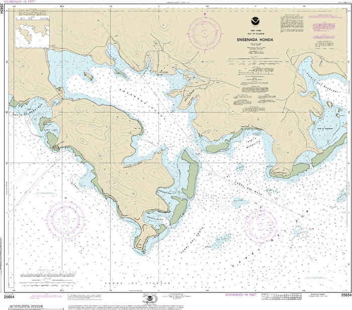 NOAA Nautical Chart 25654: Ensenada Honda