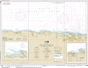 NOAA Nautical Chart 25668: North Coast of Puerto Rico Punta Penon to Punta Vacia Talega;Puerto Arecibo;Puerto Palmas Altas