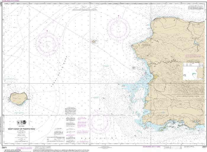 NOAA Nautical Chart 25671: West Coast of Puerto Rico