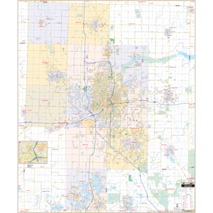 Flint Genesse Co, Mi Wall Map - Large Laminated