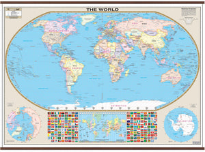 Kappa Map Group  World Large Scale Wall Map