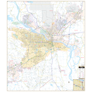 Little Rock, Ar Wall Map - Large Laminated