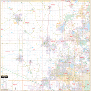 Mchenry County, Il Wall Map - Large Laminated