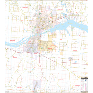 Florence Muscle Shoals, Al Wall Map - Large Laminated