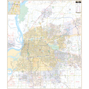 Memphis Shelby Co, Tn Wall Map - Large Laminated