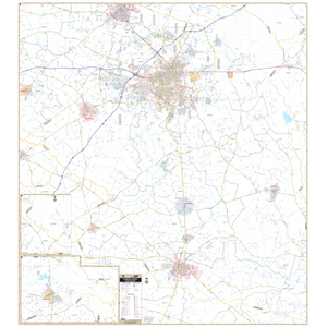 Florence, Sc Wall Map - Large Laminated