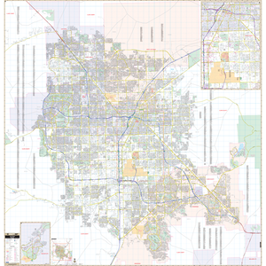 Las Vegas, Nv Wall Map - Large Laminated