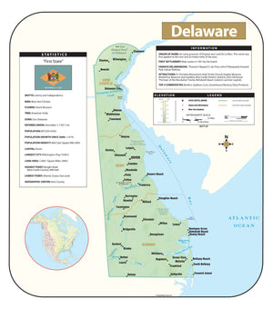 Kappa Map Group Delaware Shaded Relief Map