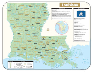Kappa Map Group Louisiana Shaded Relief Map
