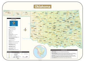 Kappa Map Group Oklahoma Shaded Relief Map