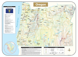 Kappa Map Group Oregon Shaded Relief Map