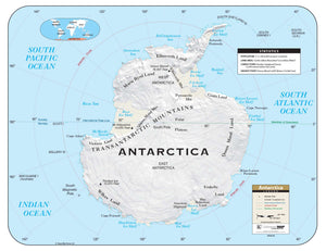 Kappa Map Group  Antarctica Shaded Relief Map