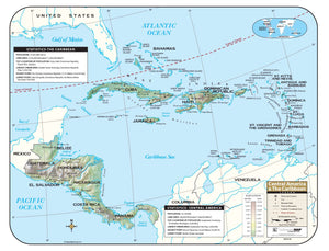 Kappa Map Group  Central America Shaded Relief Map