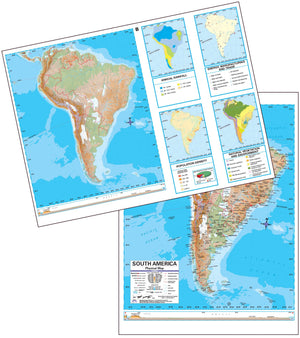 Kappa Map Group  south america advanced physical deskpad map multi pack