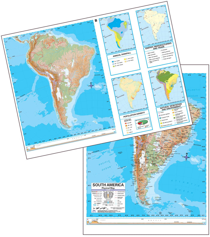 South America Advanced Physical Deskpad Map (multi-pack)