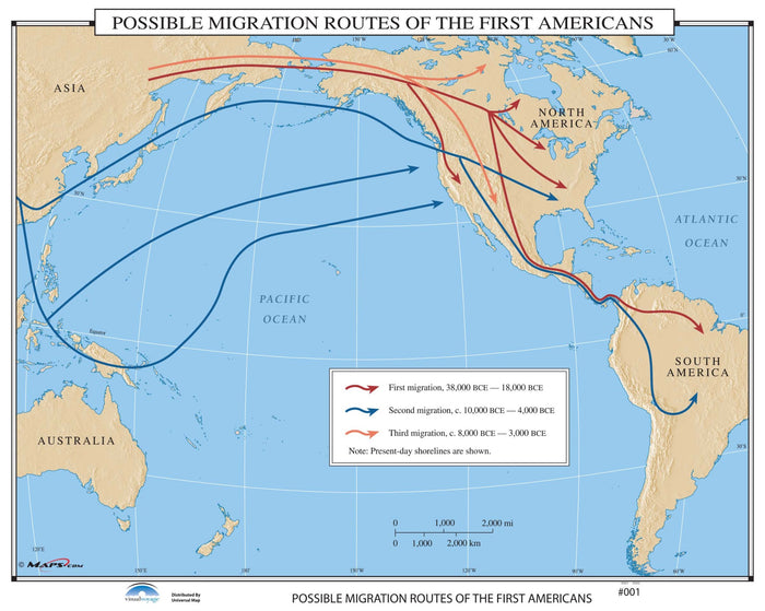 #001 Possible Migration Routes of the First Americans