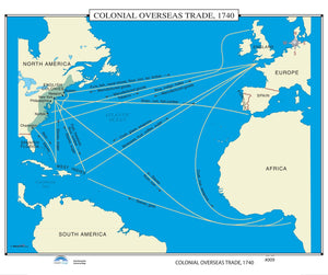 Kappa Map Group  009 Colonial Overseas Trade 1740