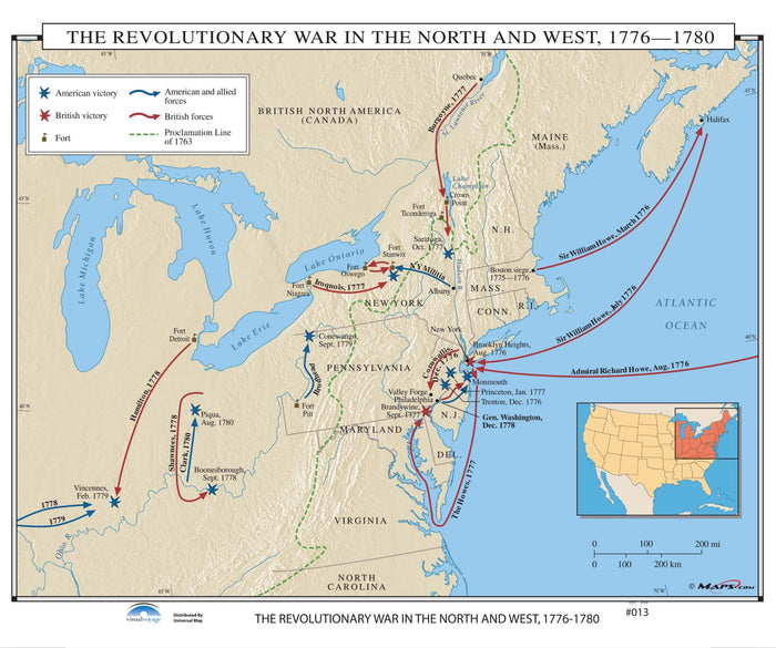 #013 The Revolutionary War in the North & West, 1776-1780