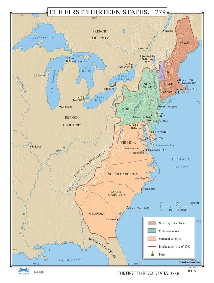 #015 The First Thirteen States, 1779