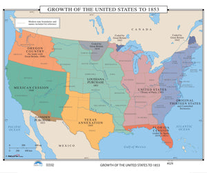 Kappa Map Group  029 Growth Of The United States To 1853