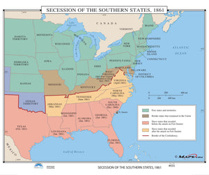 Kappa Map Group  035 Secession Of The Southern States 1861