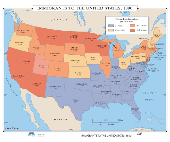 #043 Immigrants to the US, 1890