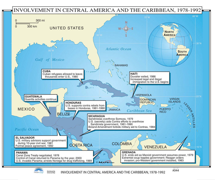#044 Involvement in Central America & the Caribbean, 1978-1992