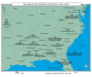 Kappa Map Group  060 Major Civil Rights Events 1954 1968