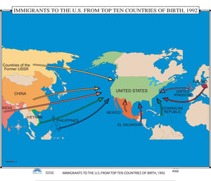 Kappa Map Group  066 Immigrants To The Us From Top Ten Countries Of Birth 1992