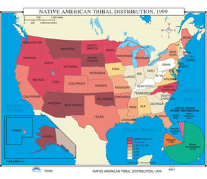 Kappa Map Group  067 Native American Tribal Distribution 1999