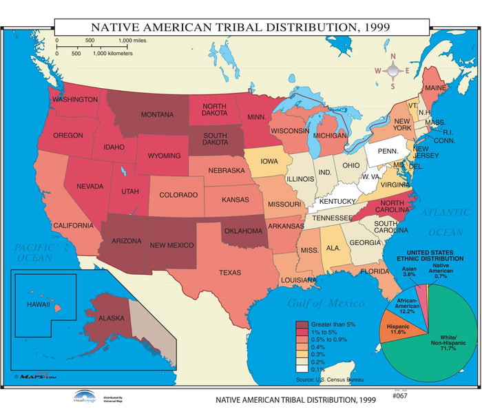 #067 Native American Tribal Distribution, 1999