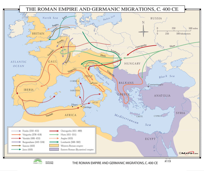 #119 The Roman Empire & Germanic Migrations, 400 CE