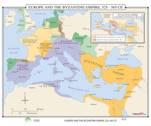 Kappa Map Group  123 Europe The Byzantine Empire 525 565 Ce