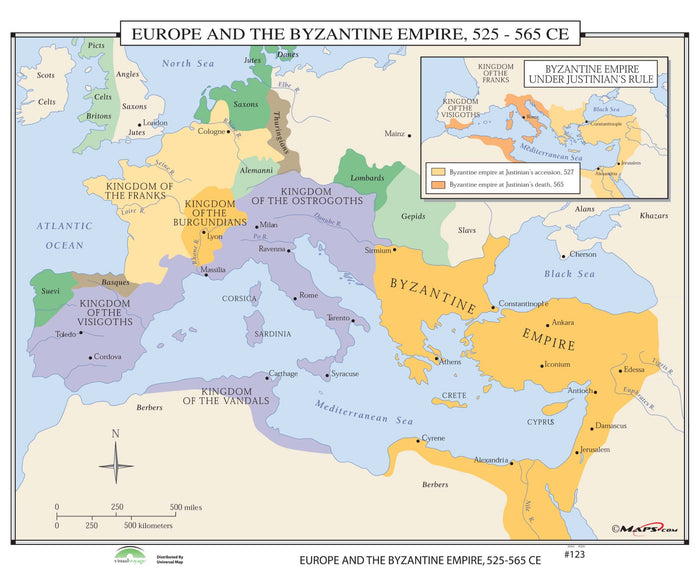 #123 Europe & the Byzantine Empire, 525-565 CE