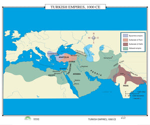 Kappa Map Group  127 Turkish Empires 1000 Ce