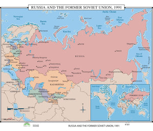 Kappa Map Group  181 Russia The Former Soviet Union 1991