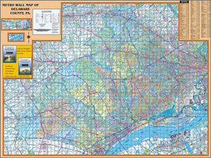 Delaware, Pa Wall Map - Large Laminated