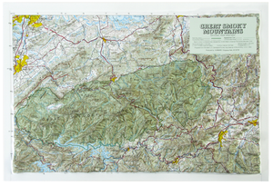 Great Smoky Mountain National Park 3 Dimensional Raised Relief Map