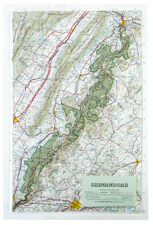 Shenandoah National Park USGS Regional Three Dimensional Raised Relief Map