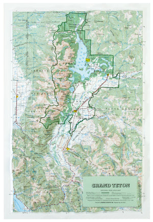 Grand Teton National Park USGS Regional Three Dimensional Raised Relief Map