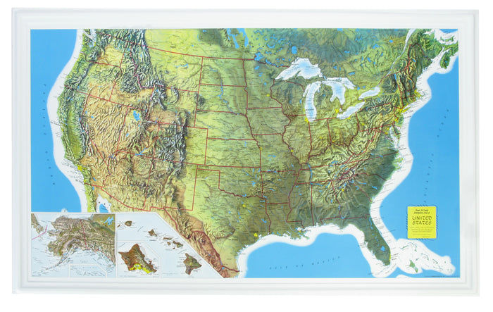 US Rand McNally 3D Raised Relief Map