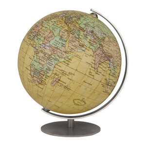 Mini Antique 4.7 inch Desktop World Globe By Columbus Globes