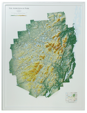 Adirondack Park 3D Raised Relief Map