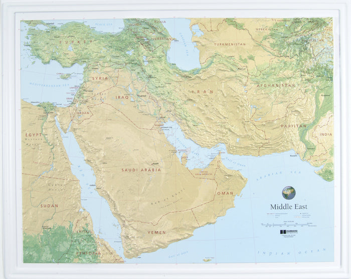 Middle East Raised Relief Map