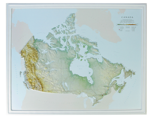 Canada 3 Dimensional Raised Relief Map