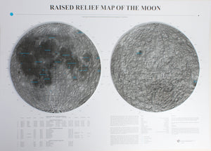 The Moon Three Dimensional Raised Relief Map