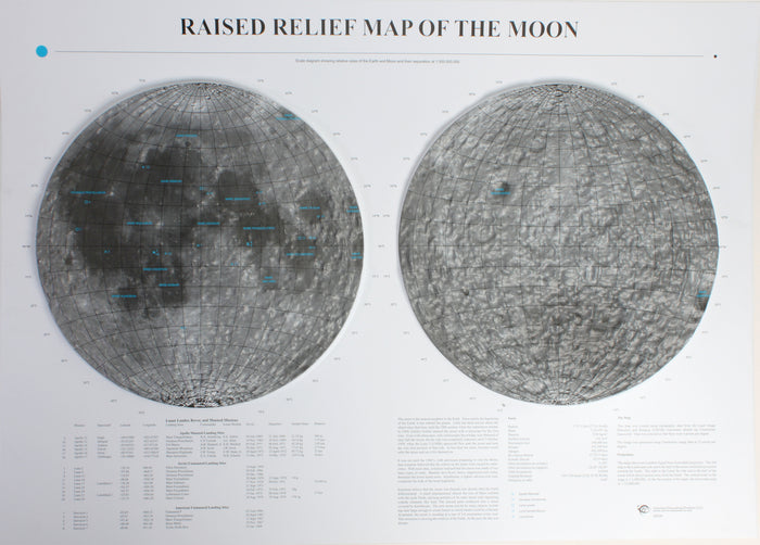 The Moon Raised Relief Map