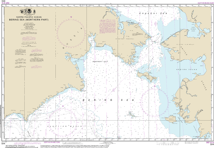 NOAA Nautical Chart 514: Bering Sea   Northern Part