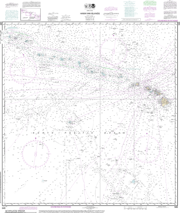 NOAA Nautical Chart 540: Hawaiian Islands