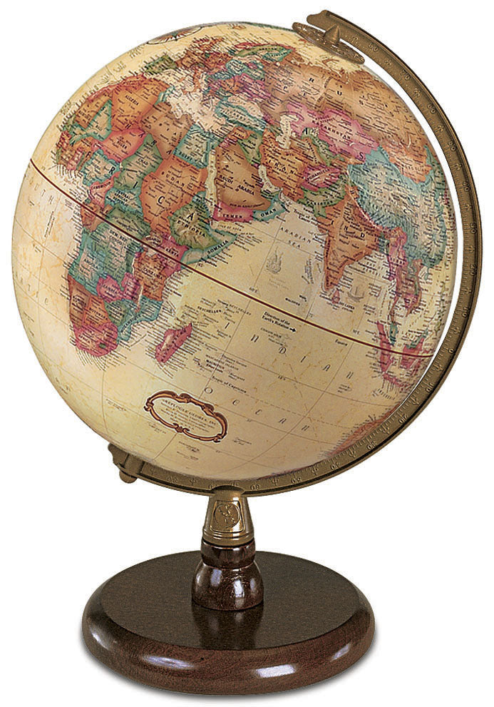 Quincy 9 Inch Desktop World Globe By Replogle Globes
